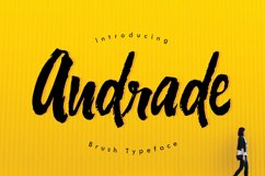Web Font Andrade Typeface Product Image 1