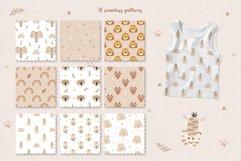 Animal and Rainbow Seamless Patterns, Nursery Digital Paper Product Image 2