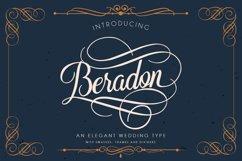 Beradon Script - Elegant Wedding font Product Image 1