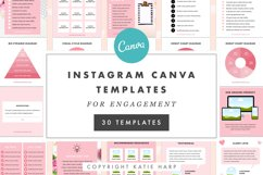Instagram Canva Templates for Engagement - Blush Pink Product Image 1