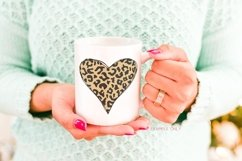 Cheetah heart clip art, cheetah rainbow clipart Product Image 2