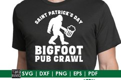Bigfoot St Patricks Day - SVG and Cut Files for Crafters Product Image 2