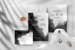 Ombre Watercolor Wedding Invitation Suite Product Image 2