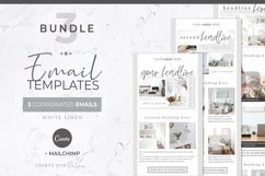 Email Templates for Canva & Mailchimp| White Linen| 3 Pack Product Image 1