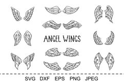Wings bundle svg. Angel wings clipart. Fairy wings cut files Product Image 5