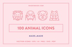 Line Icons - Animals Product Image 1