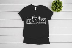 She Is Fearless SVG files for Cricut, She Is Strong SVG Product Image 3