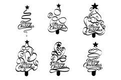 Papercut Merry Christmas Textual Tree Set Product Image 2