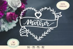 mother SVG cut file Mothers day heart monogram Product Image 1
