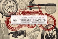 55 Vintage Vector Graphics Product Image 1