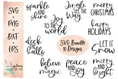 Christmas SVG Word Rounds Bundle - 10 designs Product Image 1