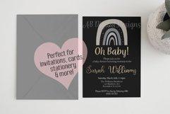 Grey/Neutral Rainbow Clipart, Boho Scandi Baby Nursery PNG Product Image 2