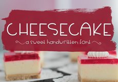 Cheesecake - A Sweet Handwritten Font Product Image 1