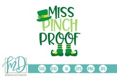 Miss Pinch Proof - St Patrick's Day SVG Product Image 2