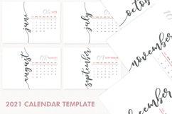 2021 Calendar Template, Desk Calendar Product Image 2