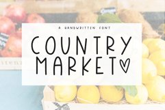 Country Market - A Handwritten Display Font Product Image 1