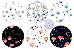 Wild Flowers Elements and Patterns Product Image 3