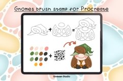 33 Brush stamp procreate, Gnomes stamp, Gnomes brush stamp Product Image 5