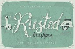 Rusted brushpen script + bonus Product Image 1