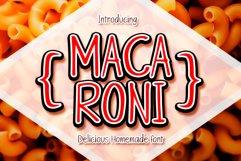 Macaroni handwritten font Product Image 1