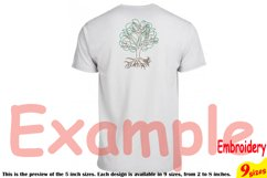 Family Tree Outline Embroidery Design Machine Instant Download Commercial Use digital Outline family love Deep Roots Branches 205b Product Image 2