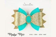 Princess Bow SVG, Crown Bow Template SVG, Tiara Hair Bow, Product Image 5