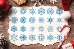 500 Snowflake Vector Ornaments Product Image 6