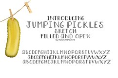 Jumping Pickles, Font trio - Open, Closed and Sketch Product Image 1