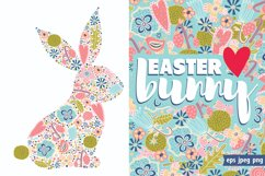 Cute floral Easter bunny. Product Image 1