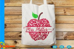 Swirly Apples SVG | Teacher SVG Product Image 2