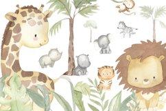 SAFARI ANIMALS. Watercolor set Product Image 6