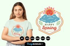Happy Spring Hand Lettering SVG Product Image 1