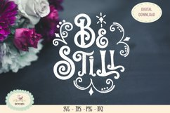 Be still and know bible saying SVG cut file Product Image 1