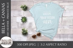Bella Canvas 3001 Heather T Shirt Mockup, Prism Ice Blue Product Image 1