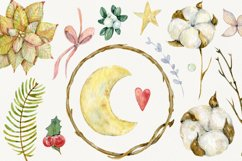 Watercolor cliparts of Christmas elements and flowers Product Image 3