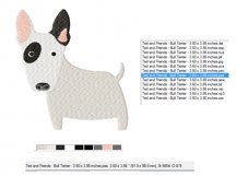 Bull Terrier Embroidery Design in 2 sizes Product Image 2