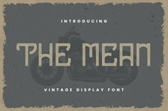 Web Font The Mean Font Product Image 1