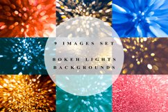 Set of 9 backgrounds with bokeh lights Product Image 1
