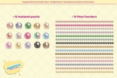 Realistic pearls cliparts and borders Product Image 2