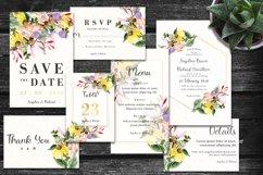 Colorful Daisy Flower Wedding Invitation Set Product Image 1