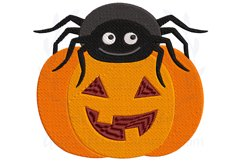 Spider Pumpkin Halloween Embroidery Design Product Image 1