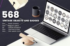 568 Vintage Objects and Badges Product Image 1