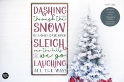 DASHER a Farmhouse Christmas Display Font Product Image 4