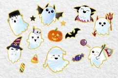 Cute Halloween Clipart, Halloween clipart, ghost clipart Product Image 5