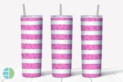 Skinny Tumbler Sublimation Design Pink Animal Print Glitter Product Image 3