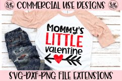 Mommy's Little Valentine SVG DXF PNG Product Image 1