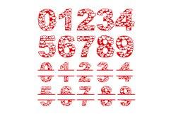 Papercut Heart Numbers Set, Numerical Monogram SVG Cut Files Product Image 2