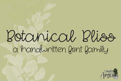 Botanical Bliss - a smooth handwritten script font Product Image 1