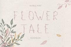 Flower Tale - Handwritten Floral Font Product Image 1