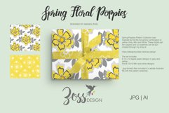 Spring Floral Poppies | Digital paper paper designs|Patterns Product Image 2